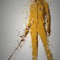"""The Bride"" Splatter effect artwork inspired by Kill Bill."