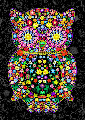 Owl Zentangle Floral