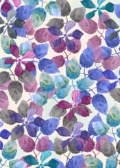 watercolor botanical garden floral flowers colors painting abstract