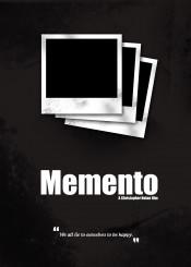 memento minimal movie poster christopher nolan film dark back quote