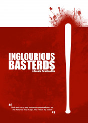 inglourious basterds minimal movie quentin tarantino film blood red poster