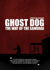 ghost dog the way samurai minimal movie poster jim jarmusch