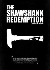the shawshank redemption minimal movie poster back hammer frank darabont quote