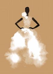 fashion fashionillustration couture style chic minimal sand blackandwhite feminine beauty dress wedding bride