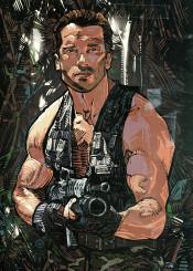 legend hero movie action actionmovie illustration poster comicbookstyle comics commandos jungle predator schwarzenegger arnold