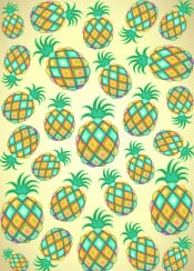 pineapple fruit food exotic pastel pastelcolors exoticfruit pattern abstract tropicalfruit ornamental sweet tropics healthyfood pineapplepastel nature caribbean art artsy artistic colortrend aquacolor yellow green