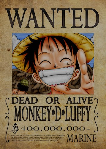 Wanted of monkey d luffy from by nicolas massot displate - One piece luffy wanted ...