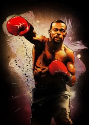 roy jones junior superman rj captain hook boxing sport red gloves ring legend fighter fighting champion
