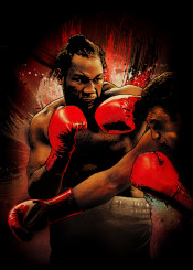 lennox lewis lion boxing sport red gloves ring legend fighter fighting champion