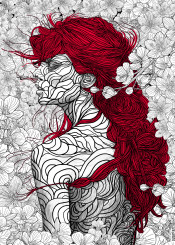 illustration lineart linedrawing sketch digitalart graphicdesign nature people