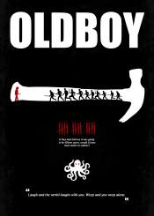 oldboy minimal movie poster film dark black hammer octopus fifteen