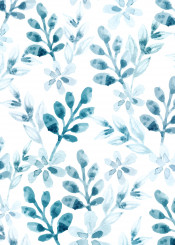 watercolor floral pattern winter flowers fog blossom tropical abstract color beautiful
