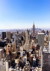 new york usa us empire state building photo landscape hdr design architecture sky blue manhattan rockefeller plaza midtown photography cityscape