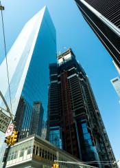 new york wall street manhattan world trade center skyscraper tower city cityscape architecture building