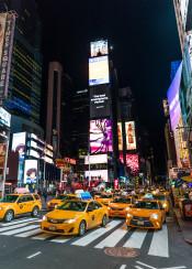 new york usa us yellow cab times square photo night city architecture design poster kitchen room black manhattan
