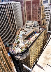 new york rooftop city cityscape architecture manhattan wall street building photo photography