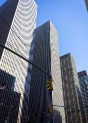new york buildings manhattan rockefeller blue sky design skyscraper usa us midtown photo day