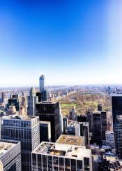 new york central park green nature manhattan midtown usa us cityscape landscape blue buildings design architecture photo