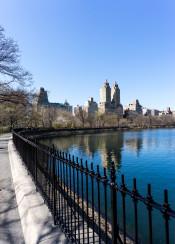 new york central park blue sky water usa city cityscape photography