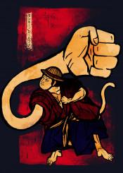 luffy monkey d hand fist straw hats kimono japan japanese feet human pirate history gum fruit oda onepiece one piece anime manga tail vintage ink inking red cool sketch scar zoro sanji robin