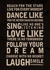 dance sing typo text love dream laugh smile