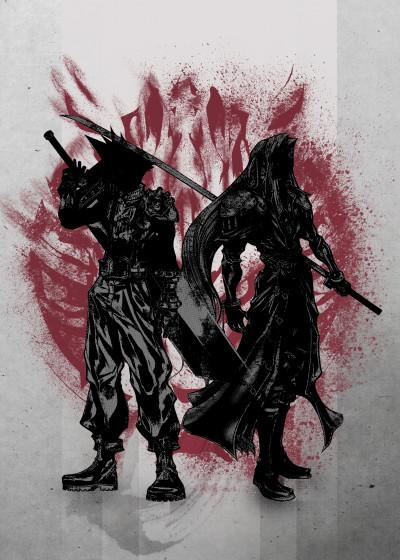 Fanfreak  Crimson Characters   Displate Prints on Steel