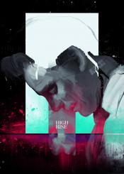 high rise tom hiddelston face glitch paint graphic design movie poster film thriller grunge pink magenta neon