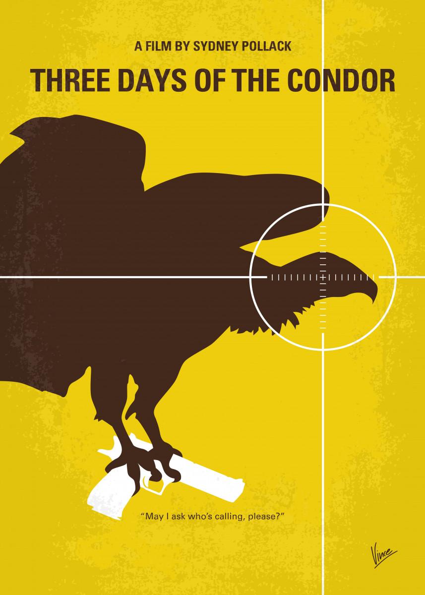 No659 My Three Days of the Condor minimal movie poster.