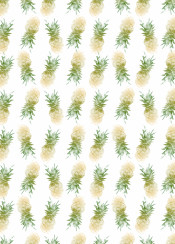 pineapples pattern summer color fresh repeat fruit fruity decor watercolor ink homedecor decoration orange green