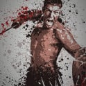 """Bringer of Rain"" Splatter effect artwork inspired by the TV show Spartacus."