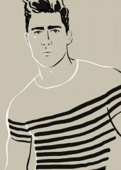 portrait man guy fashion french paris breton minimal simple chic stylish cool