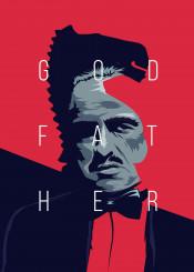 godfather brando marlon coppola horse face glitch art illustration design movie film classic