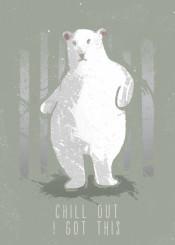 animal bear funny joke joker tree snow polar beer swag chill out animals freen vintage fanfreak cute humour lol cuteness pun