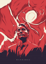 hannibal series meat horror movie film tv lecter illustration design red blue