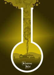 breaking bad minimal movie poster fanart alternative yellow