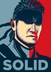solid snake solidsnake metal gear metalgearsolid videogame video game konami kojima spy red blue poster