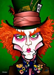 johnnydepp madhatter aliceinwonderland teaparty fantasy timburton whimsy
