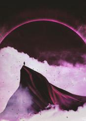 purple black white smoke cloud fog apocalypse eclipse sun moon dark fantasy scifi anime evangelion angel archangel epic lovecraft