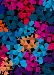geometric colorful mosaic pattern retro triangle background shapes decoration abstract