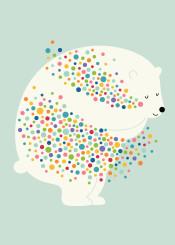 hug dreams dot bubble rainbow polar bear