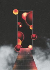 dark retro psychaedelic lsd balls dimension interstellar space dream clouds fog smoke 80s 90s scifi fantasy human trip