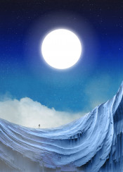 dream blue wanderlust moon sun cold night walk wanderer human clouds fog dust stars peaceful dreamy lucid