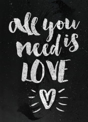 all you need is love quote heart loving relation relationshio anime fan fanfreak ink inking romance ship cool line work watercolor brush brushing valantine