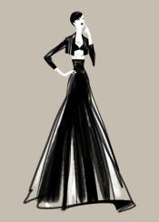 fashion fashionsketch fashionillustration minimal chic style couture fashiondesign blackandwhite