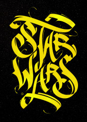 calligraphy typography poster starwars