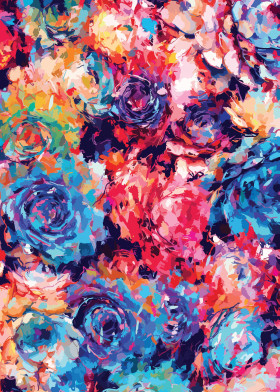 floral flowers confetti abstract succulent cactus rose roses art digital girly girls pretty cute colorful vibrant