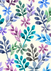 watercolor floral pattern color colorful flowers abstract