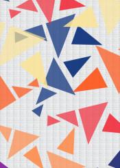 geometric color colorful triangle fabric texture