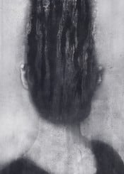 dark surreal abstract portrait monochrome black white surrealism