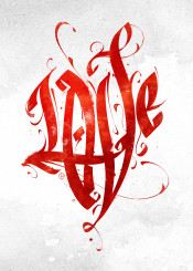 love calligraphy typography lettering textart poster art